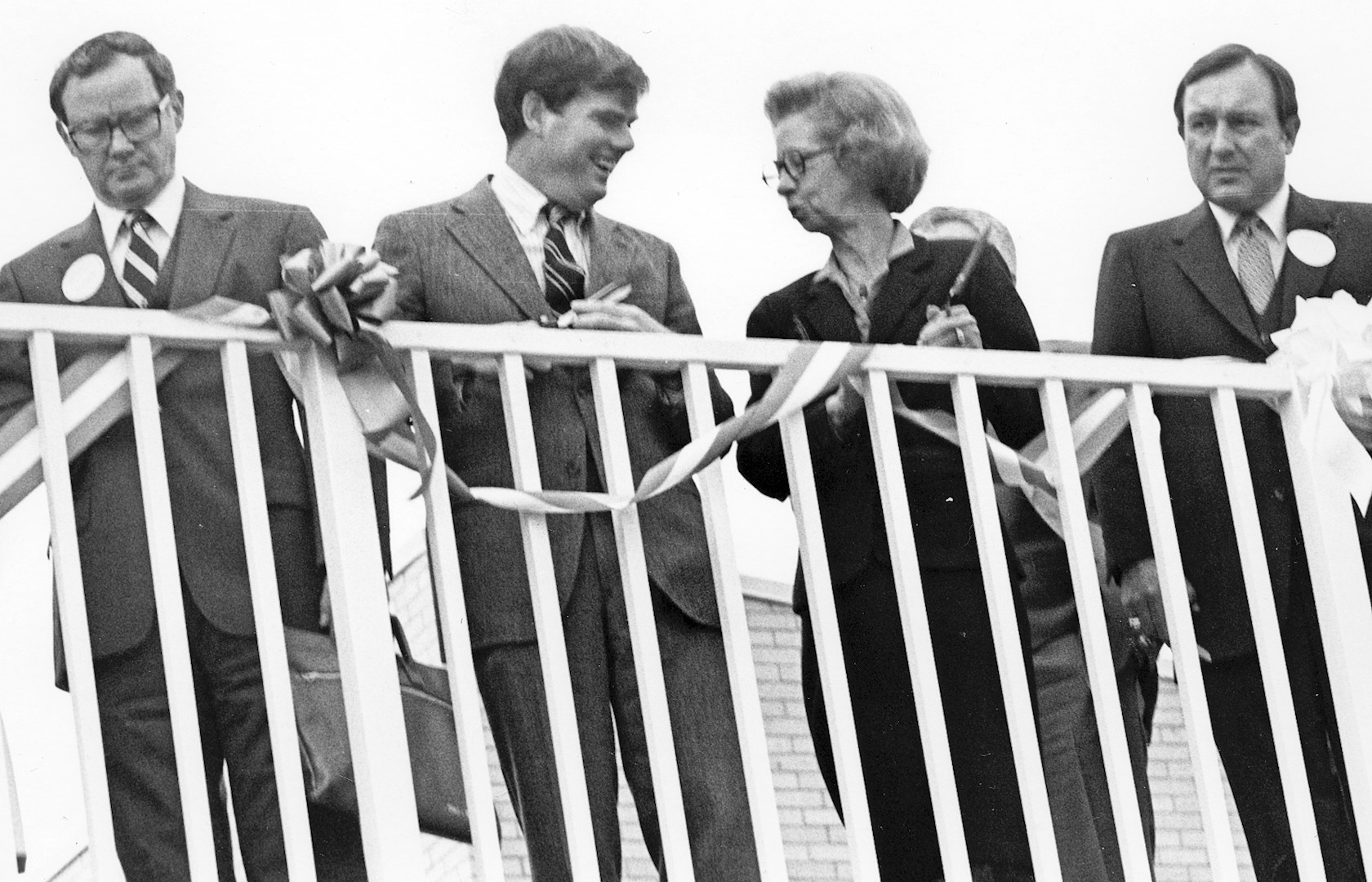 horiz_ribbon cut of the PAC in 1980