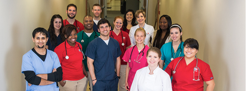 College of Nursing and Health Professions students