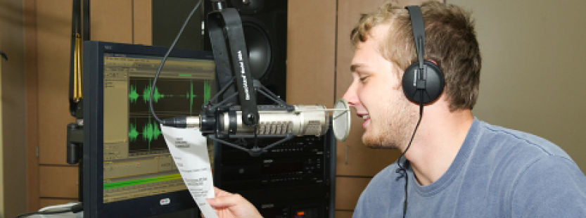 Student on the radio