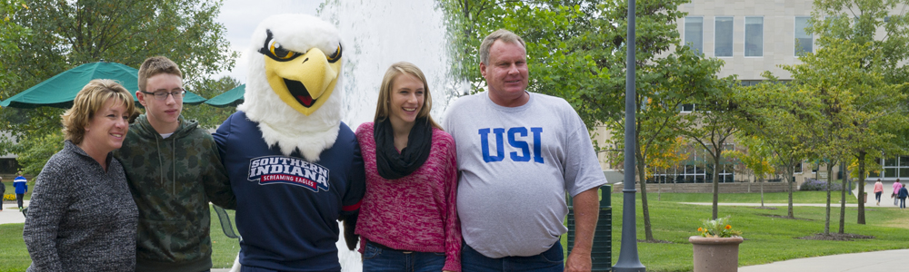 family and Archie the Eagle