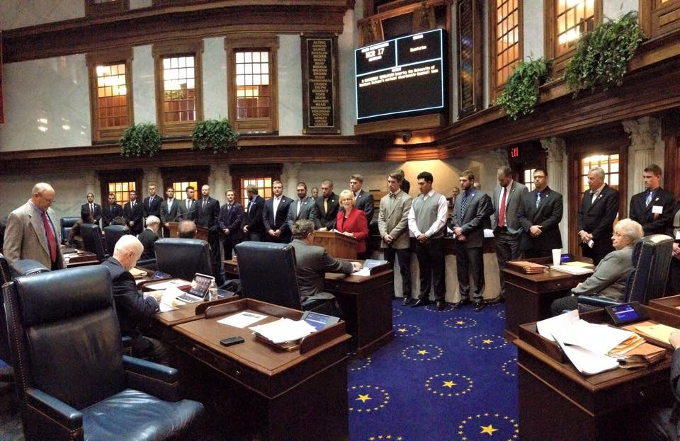 Bball Team Senate Floor W Becker