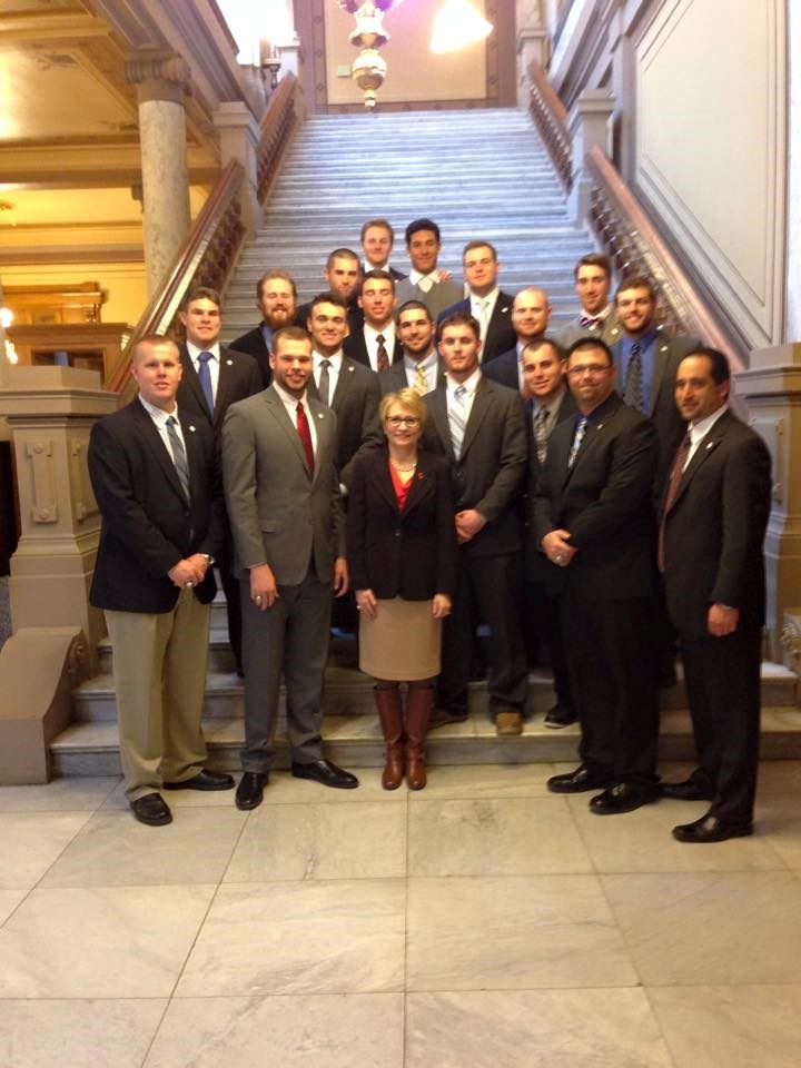 Bball Team W Lt Gov Ellspermann