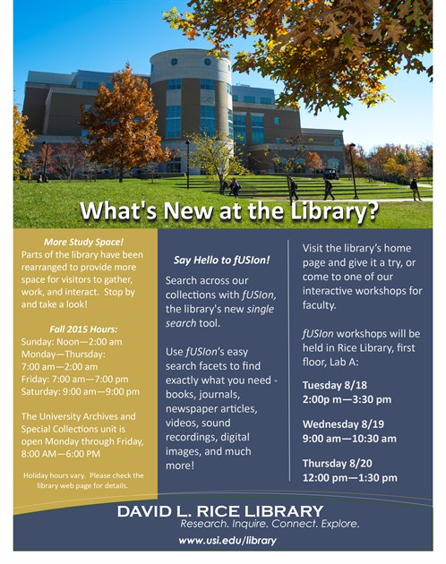 Whats New At The Library Fall 2015