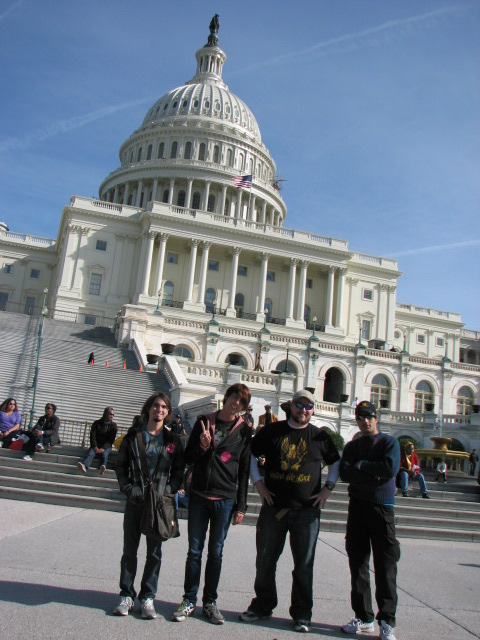 Political Science Society students visiting Washington, DC