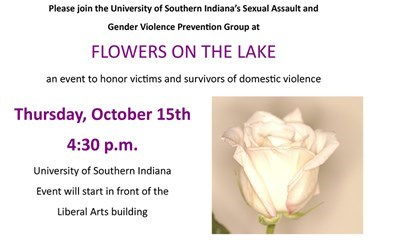 Victims and survivors of domestic violence in Indiana honored at USI's Flowers on the Lake event