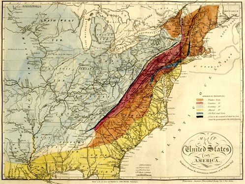 Maclure 1818 Geologic Map Of The United States