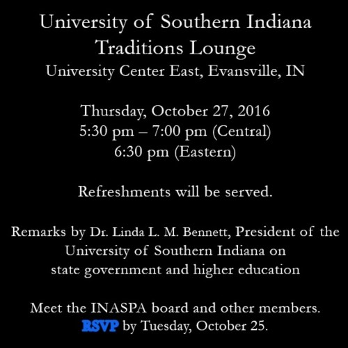 USI's MPA program cosponsoring networking event