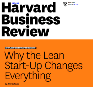 Reference Material:  Why the Lean Start-Up Changes Everything