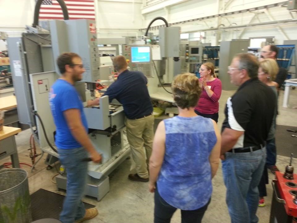 Teachers touring Applied Engineering Center