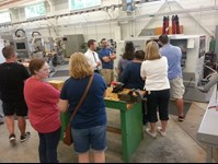 Teachers receiving tour of Applied Engineering facility
