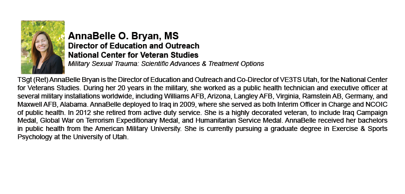 AnnaBelle O. Bryan, MS - Director of Education and Outreach - National Center for Veteran Studies