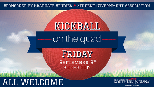 Kickball on The Quad Advertisement: Friday, September 8, 3 to 5 p.m.
