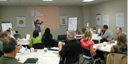 Facilitator leading a workshop