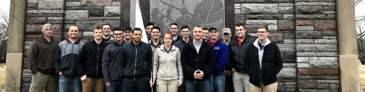 ROTC students on staff ride