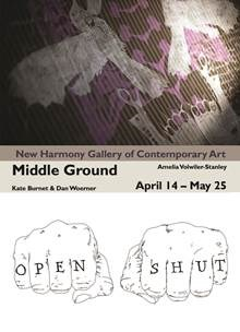 Middle ground april 14 - may 25 amelia vowilier stanley, dan woerner, kate burnet