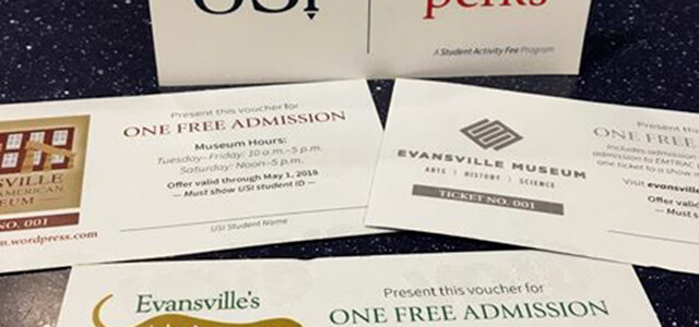 various tickets to local events