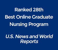 ranked 28th best online graduate nursing program by U.S. News and World Reports