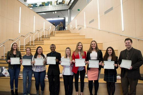 Fall 2018 Top Student Participants at the Romain College of Business