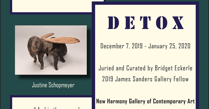 New Harmony Gallery hosts student curated exhibition, Detox, featuring USI students and faculty