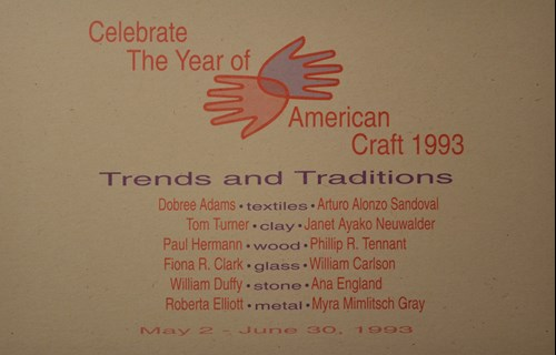Celebrate the year of american craft 1993 trends and traditions