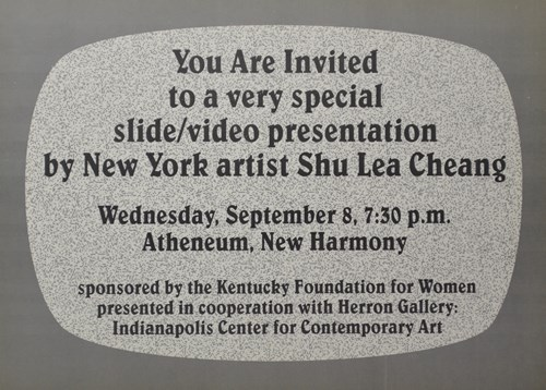 You are invited to a very special slide/video presentation by new yprl artist Shu Lea Cheang