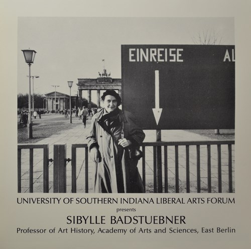 university of southern indiana liberal arts forum present sibylle badstuebner proffessor of art history, academy of arts and sciences, east berlin