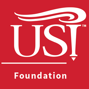 USI Foundation logo on red background