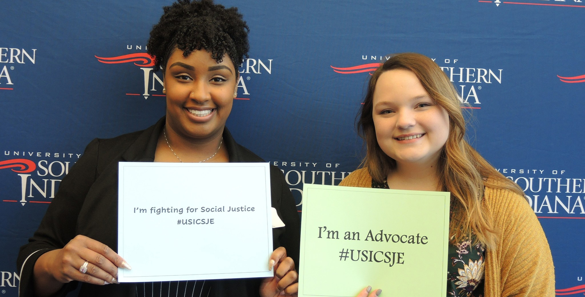 CSJE students sharing what their social justice cause is