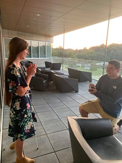 Reid Edwards proposes to Emily Miller