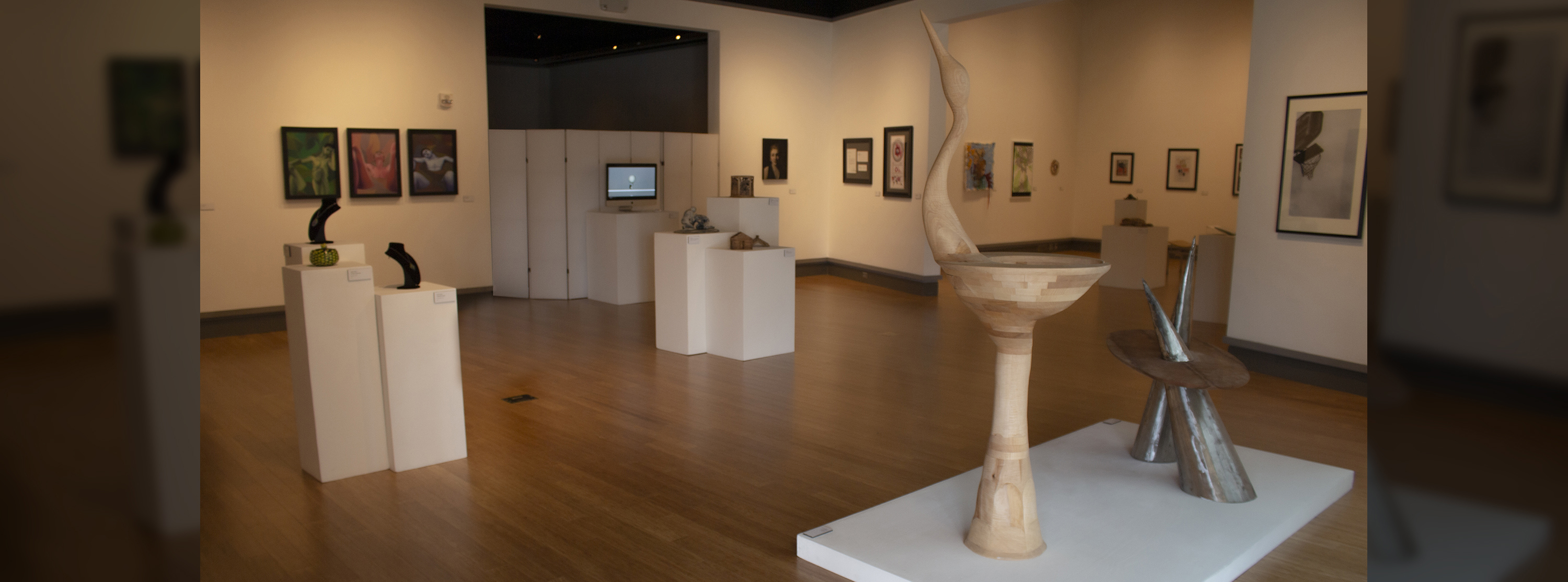 View of the McCutchan/Pace gallery art pieces on display